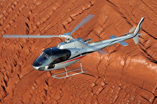 Der Typ AS350 von American Eurocopter wird in Amerika vergleichsweise häufig eingesetzt