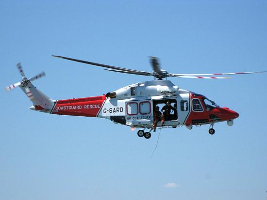 AgustaWestland AW139 der HM Coastguard. Hier vom derzeitigen Betreiber CHC.