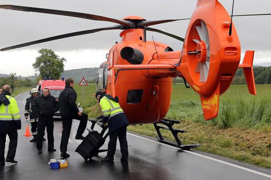Kurz bevor der RTH den Patienten in die Klinik transportieren wollte bemerkte der Pilot einen Defekt