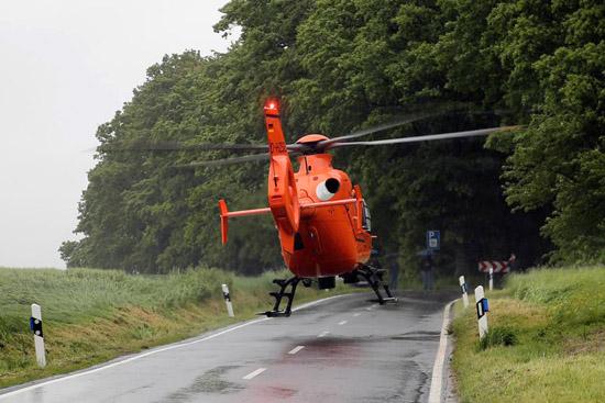 Nach dem Beheben der Störung konnten beide Hubschrauber den Einsatzort wieder verlassen