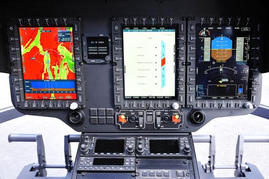 Interessanter Einblick ins Innere der Maschine: Hier das Cockpit der neuen EC 145 T2