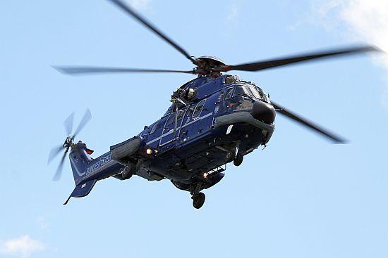 """Die Bundespolizei-Fliegerstaffel Fuhlendorf verfügt über mehrere Offshore-ertüchtigte AS 332 """"Super Puma"""""""