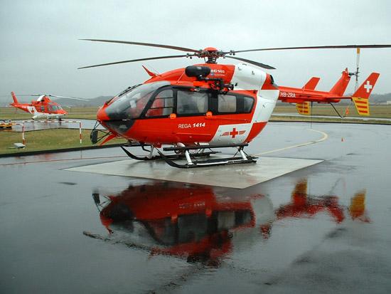 Die REGA ist der größte Schweizerische Luftrettungsanbieter, sie betreibt 13 Helikopterbasen