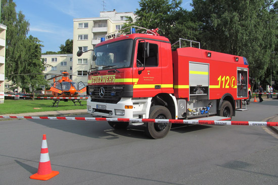 Nach dem Zwischenfall wurde u.a. die Berufsfeuerwehr Bielefeld zur Sicherung der Einsatzstelle alarmiert