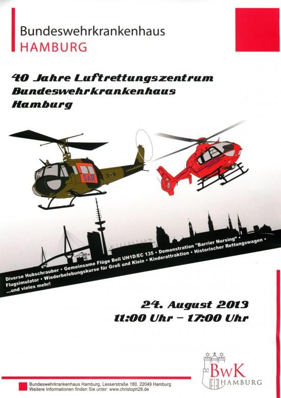 Das offizielle Werbeplaket, mit welchem der Bürger zu den Feierlichkeiten eingeladen wird