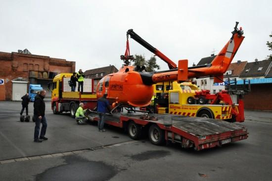 Die D-HDFK ist auf dem Gelände des Technikmuseum angekommen