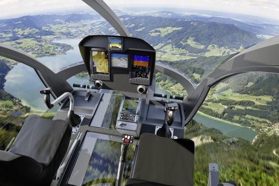 Das Cockpit erscheint sehr übersichtlich und klar strukturiert - auch die Sicht für den Piloten ist eine Augenweide