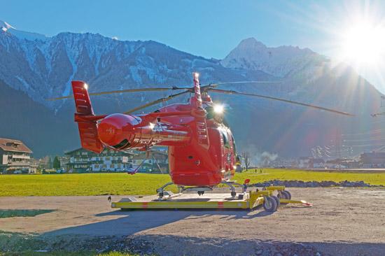 Roy Knaus nahm kurz nach Weihnachten den 16. Tiroler Hubschrauber in Dienst