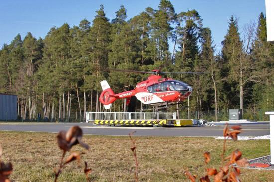"""Die Station """"Christoph 80"""" in Weiden wurde am 01.04.2011 von der DRF Luftrettung in Betrieb genommen"""