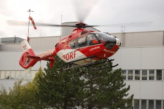 """Zurzeit fliegt in Göttingen eine EC 135 als RTH """"Christoph 44"""""""