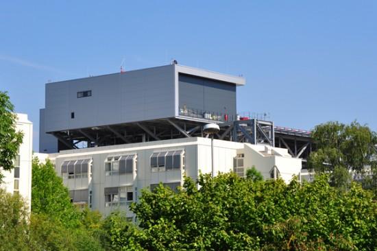 Das neue Stationsgebäude mit Hangar und Sozialtrakt