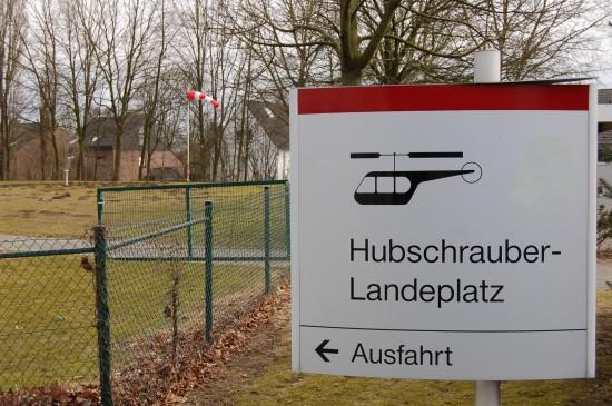 """""""Hubschrauber-Landeplatz"""" am St. Elisabeth-Krankenhaus in Recklinghausen"""