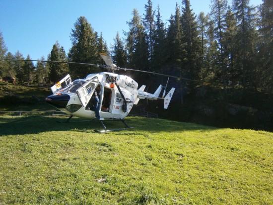 Pelikan 2 bei einem Einsatz in alpinem Gelände, hier ein Archivbild der aktuell beschädigten Maschine