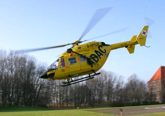 Bereits seit 1985 im Einsatz: Der Hubschraubertyp BK 117 am Luftrettungszentrum in Sanderbusch
