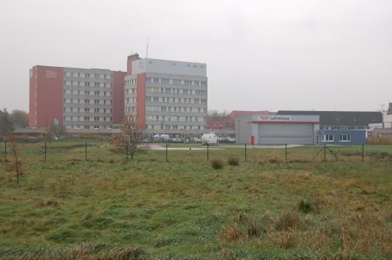 """Am 1. April 2005 wurde der RTH """"Christoph Europa 5"""" von Hohenlockstedt ans Kreiskrankenhaus Niebüll verlegt"""