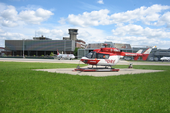 Friedliches Nebeneinander in Bremen mit den Fliegerkollegen von OLT
