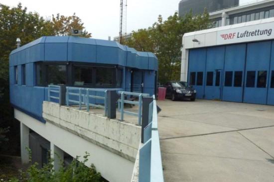 Büroräume und Hangar des Göttinger Luftrettungszentrums