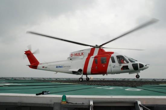 Von 2012 bis 2013 war die D-HULK an den Helicervice International zum Personentransport vom und zum Windpark BARD 1 verchartert
