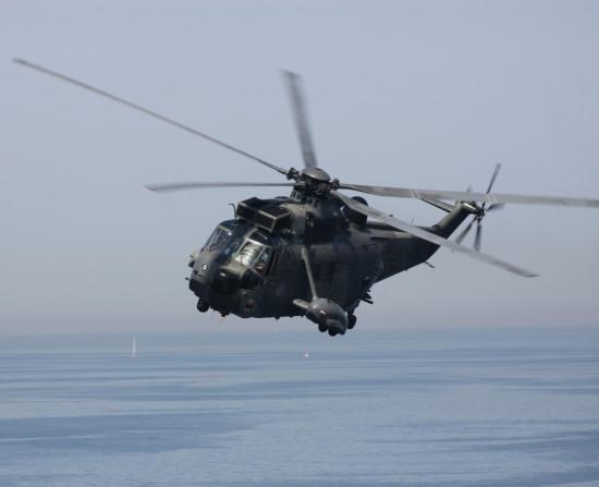 """Der """"SeaKing"""" Mk.41 wird zurzeit von der Deutschen Marine für Luftnotfälle über Nord- und Ostsee eingesetzt (meist von Deutschlands einziger Hochsee-Insel Helgoland aus)"""