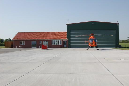 """Im Jahr 2008 wurde der Zivilschutz-Hubschrauber """"Christoph 12"""" von Eutin nach Siblin verlegt"""