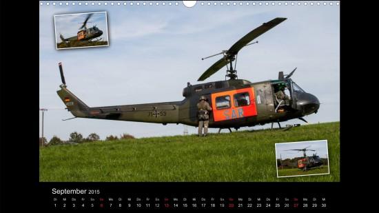Gut erkennbar: Das Heer hat mit dem Technologietransfer von der Luftwaffe den SAR-Dienst über Land mit der Bell-UH 1D übernommen