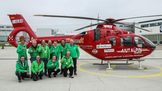 """Der Bergrettungsverein """"Aiut Alpin Dolomites"""" freut sich über die neue EC 135"""
