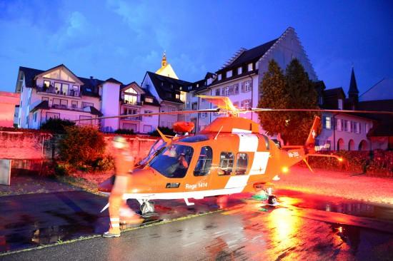 """nachtübergreifender Einsatz einer """"Agusta Westland AW-109SP Da Vinci"""" der REGA"""
