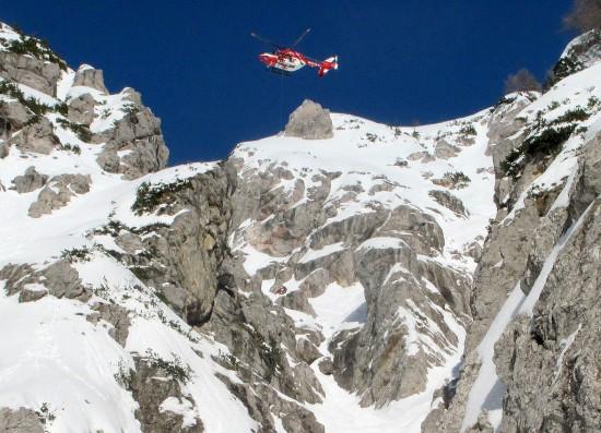 Seilrettung von RK-1 im Gebirge