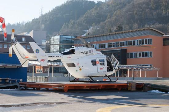 Pelikan 2 einsatzbereit am Standort in Brixen.