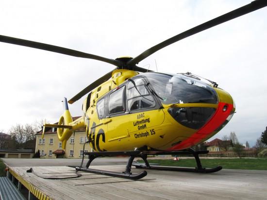 """Eine gelbe EC 135 der ADAC Luftrettung gGmbH wird demnächst auch in Mittelfranken als """"Christoph 65"""" im Einsatz sein."""