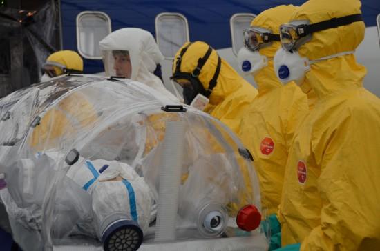 Bei dem Transport von hochinfektiösen Patienten gelten höchste Sicherheitsvorkehrungen für alle Beteiligten