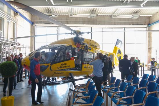 Im Hangar von Christoph Murnau konnte die neue Maschine besichtigt werden.