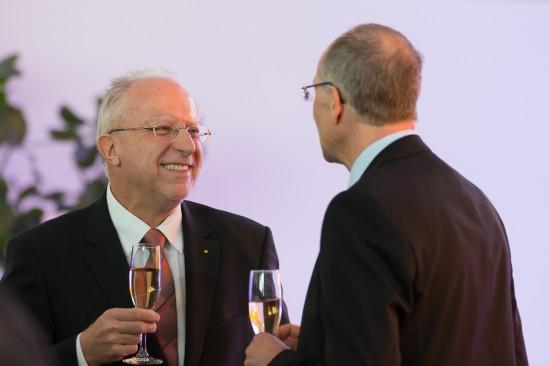 Dr. August Markl und Dr. Wolfgang Schoder im Gespräch.