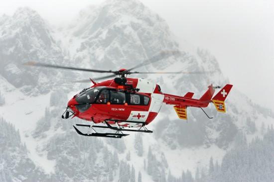 Ein Helikopter der REGA, wie er in Basel eingesetzt wird