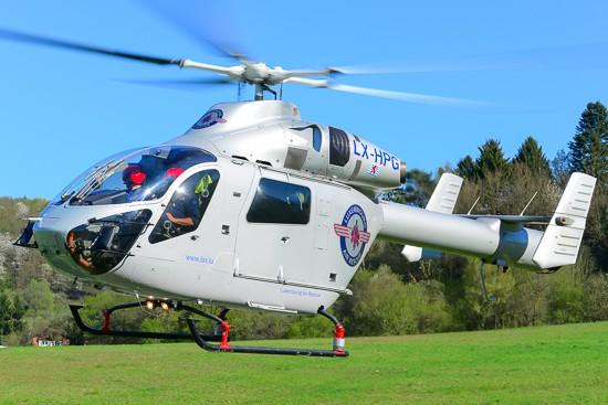 Air-Rescue 3 bei einem Notfalleinsatz im Saarland.