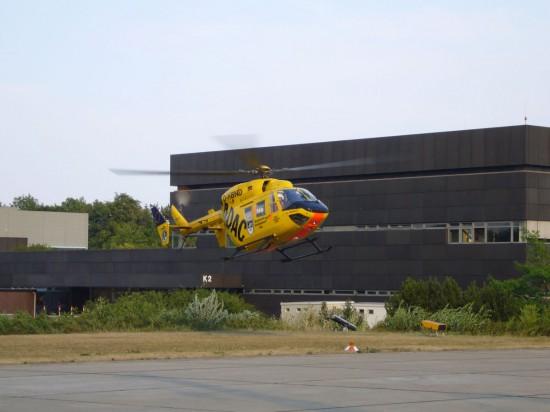Seit Übernahme der Ulmer Station durch die ADAC-Luftrettung fliegt dort die D-HBND als Standortmaschine