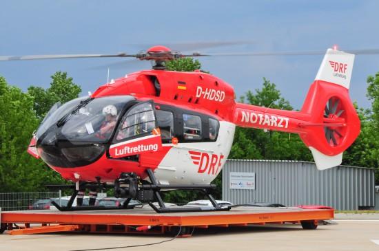 Kurz nach Inbetriebnahme der neuen Maschine wurde der Hubschrauber alarmiert.