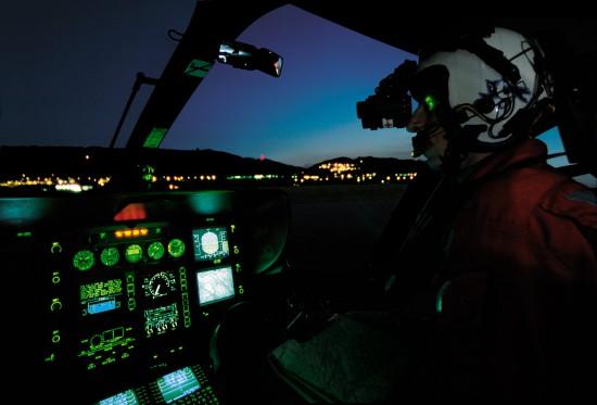 Die REGA setzt NVG bereits seit fast 30 in der Flugrettung Jahren ein