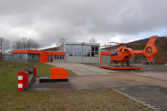 Das 2009/2010 modernisierte Luftrettungszentrum an der Bielefelder Rosenhöhe gehört zu den modernsten in der Bundesrepublik