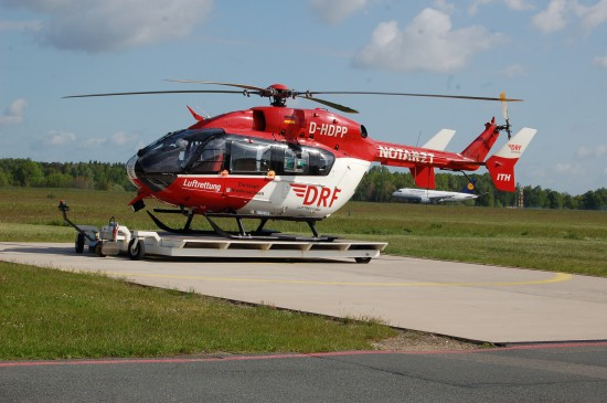 """Dabei hatte die EC 145 ihren Schriftzug """"Operated by HSD [Luftrettung]"""" bereits verloren"""