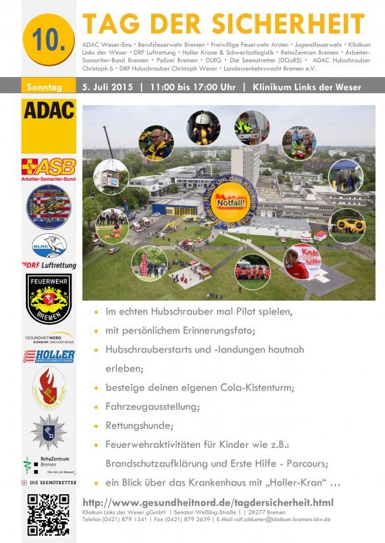 Für Besucher gibt es ein umfangreiches Programm auf dem Gelände vom Klinikum Links der Weser