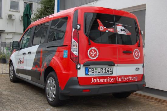 Und das Johanniter-LRZ Gießen setzt diesen Ford Transit Courier ein