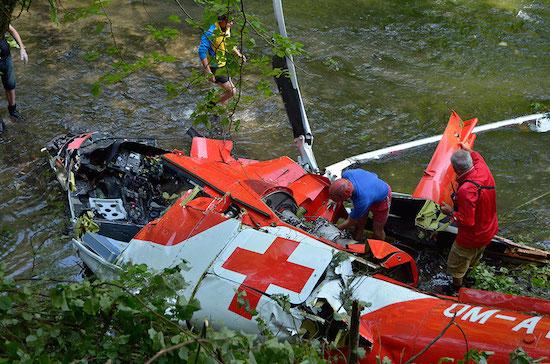 Der Hubschrauber vom Typ Agusta A 109 war auf dem Weg zu einer Einsatzstelle