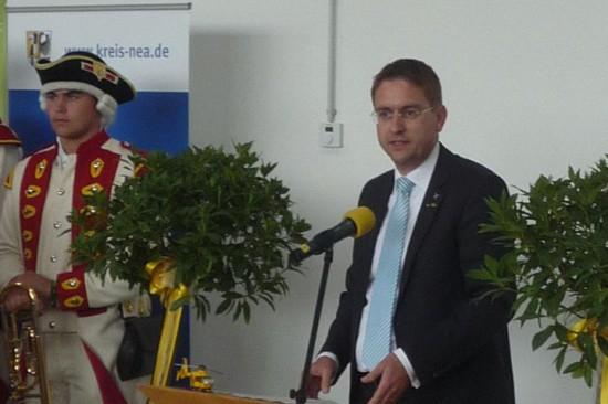 Landrat Dr. Jürgen Ludwig bei seiner Rede
