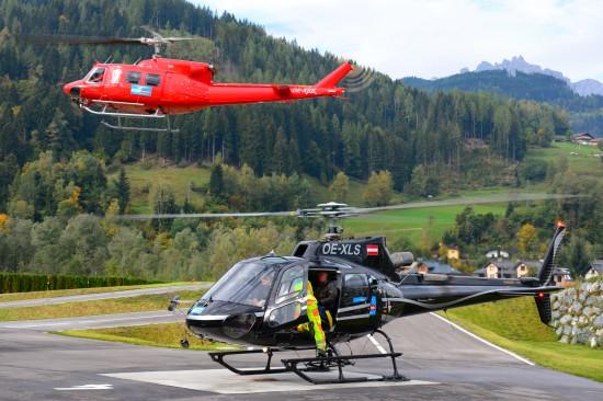 Viele leisteten sich einen Rundflug mit dem Hubschrauber.