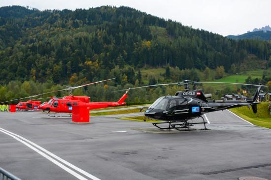 Dafür standen mehrere Helikopter unterschiedlichen Types zur Verfügung.