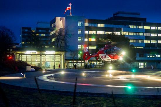 Vorerst letzter Start vom bisherigen Stationierungsort, dem Krankenhaus St. Vincentius.