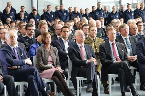 Die Gesundheitsministerin Frau Lydia Mutsch, LAR-Präsident René CLOClosterSTER und S.K.H. Grossherzog Henri von Luxemburg (v.l.n.r.)