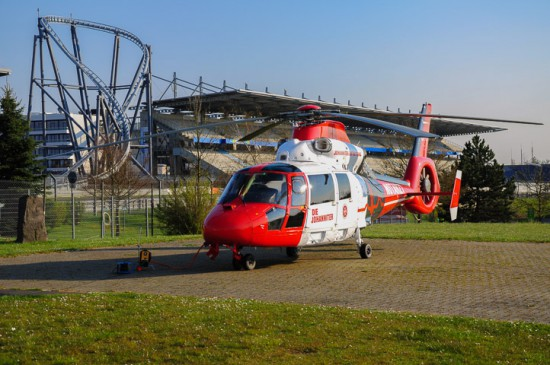 Der ITH der Johanniter Luftrettung ist bereits seit dem Vorjahr am Nürburgring stationiert - anfangs nur zu Rennzeiten, seit dem 1. Mai 2016 dauerhaft