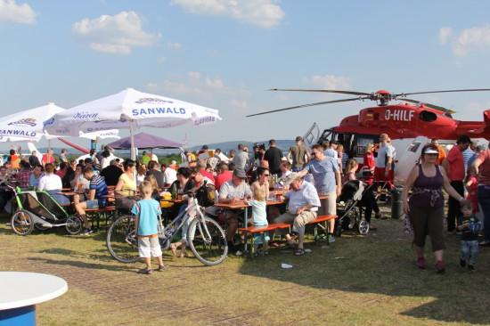 Fliegerfest in Pattonville, direkt an der Stadtgrenze zwischen Stuttgart und Kornwestheim